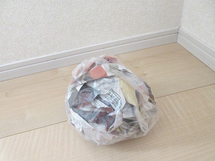新聞ビリビリ遊び後のゴミで作ったボール
