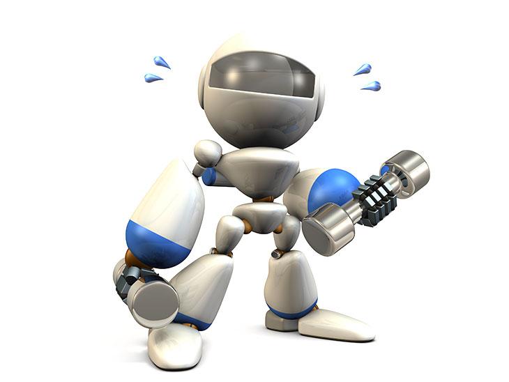 運動するロボット