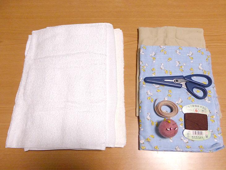 赤ちゃんの防災頭巾の材料