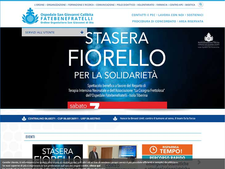 Fatebebenefratelli San Giovanni Calibitaサイトキャプチャ画面
