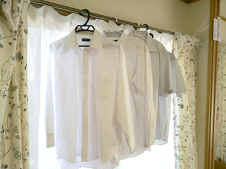 干したワイシャツ