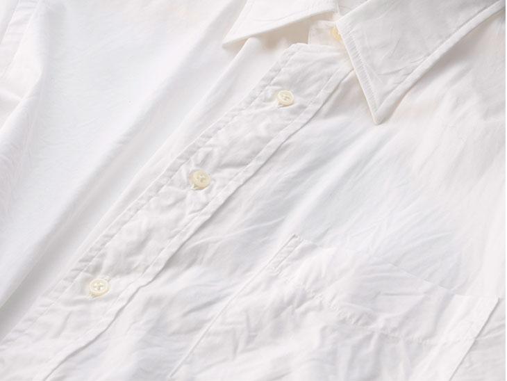 シワだらけのワイシャツの表面