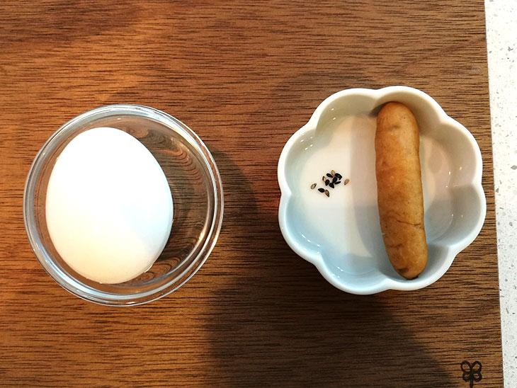 ゆで卵のヒヨコの材料