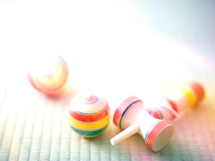 虹色のけん玉