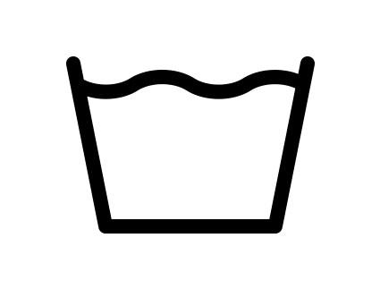 「家庭で洗濯する方法」マーク