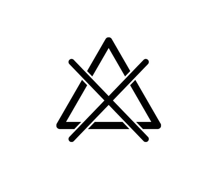 三角に×印がついた漂白剤は使えないことを表すマーク