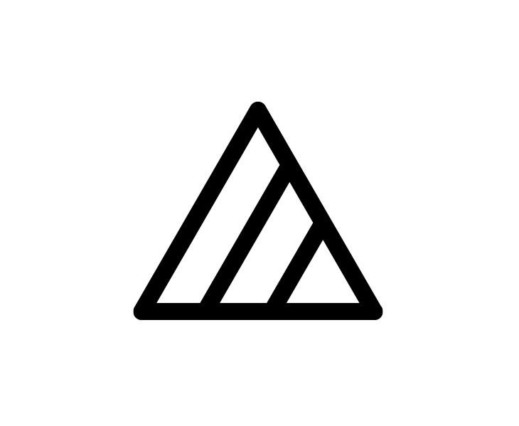 しましまの三角マーク