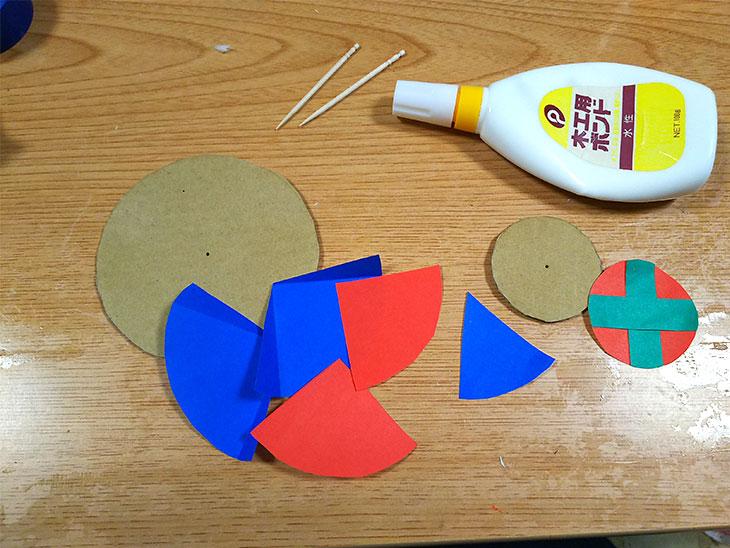 ダンボールで作るコマの材料