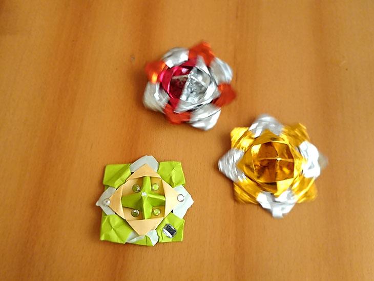 折り紙のこま