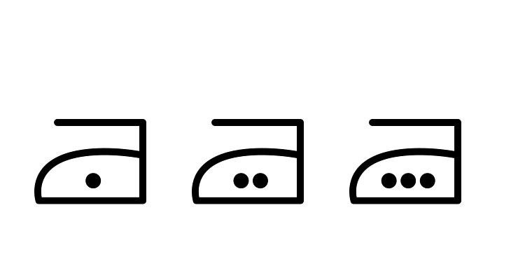 温度の表示の例