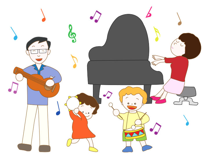 楽器演奏のイラスト