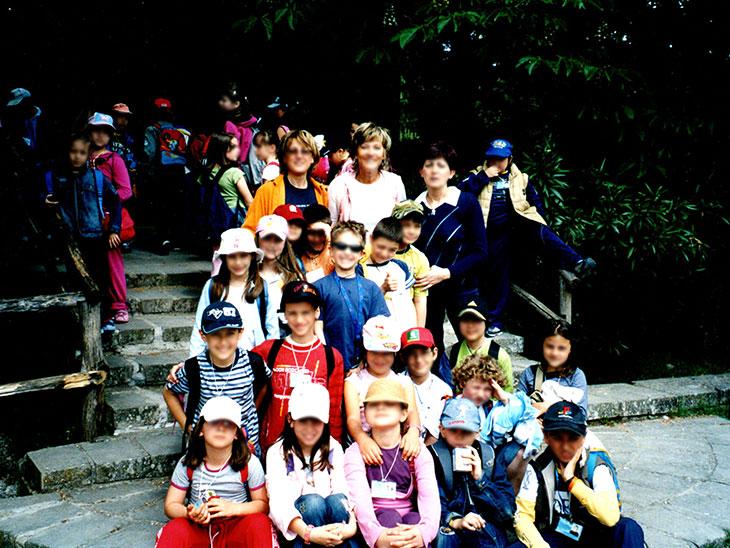 イタリアの小学校の遠足
