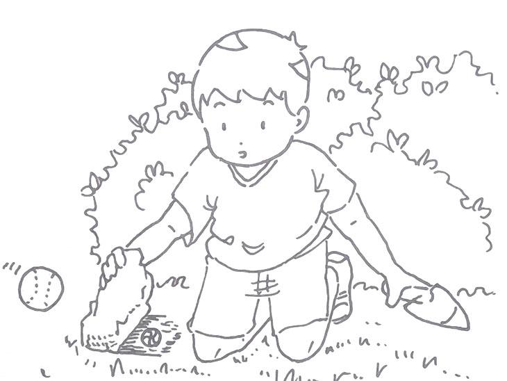 遊んでいる男の子のイラスト