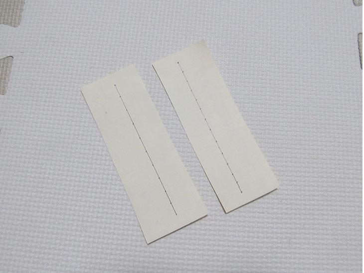 まっすぐ縫う練習用の縫いさし