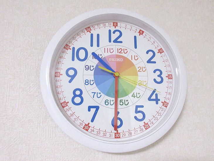 お昼ご飯を子供と作り始めた時間の時計