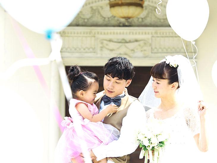 結婚式での家族