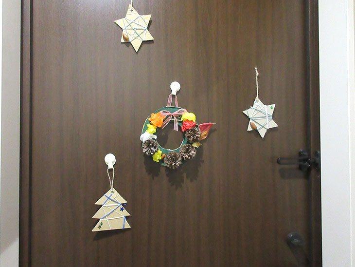 子供が作ったクリスマスの飾り