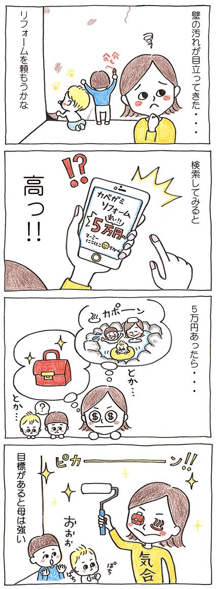 DIYの4コマ漫画
