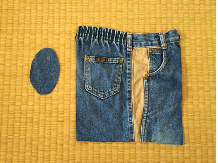 切り取った子供服のズボン