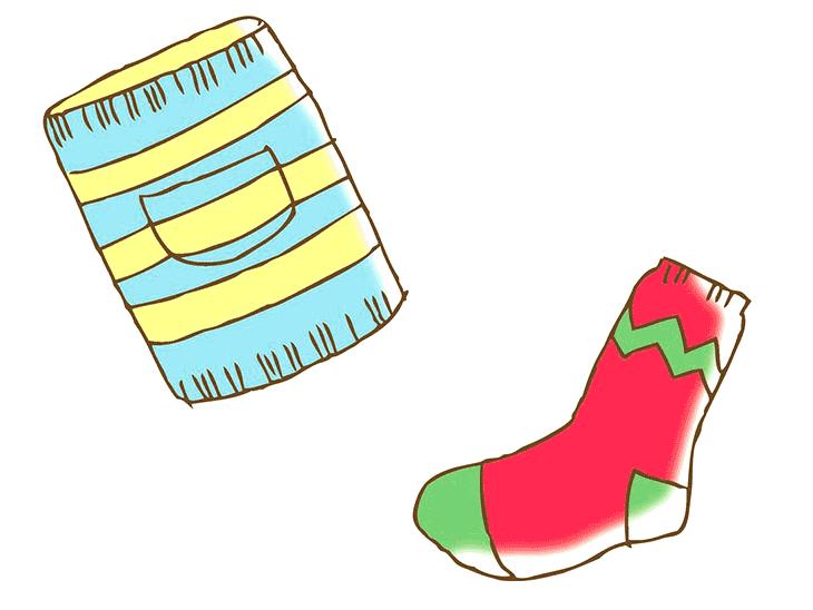 腹巻きや靴下