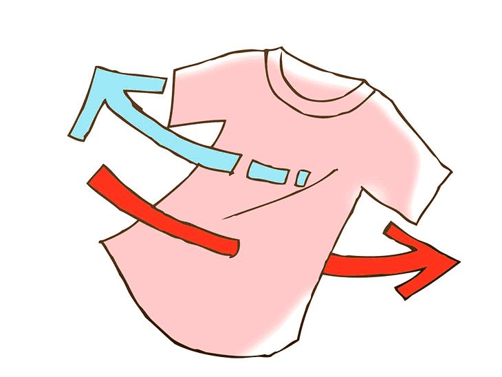 通気性の良い服