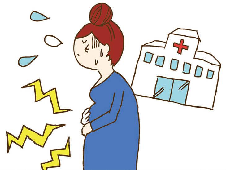 お腹に張りや痛みを感じる妊婦