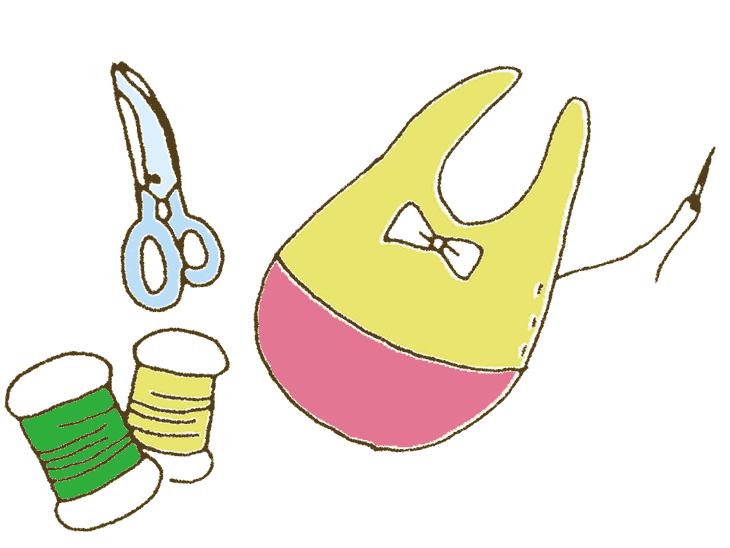 手作りの赤ちゃんのスタイ