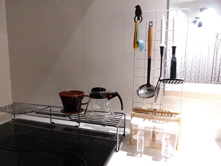 100均DIYで整頓されたキッチン
