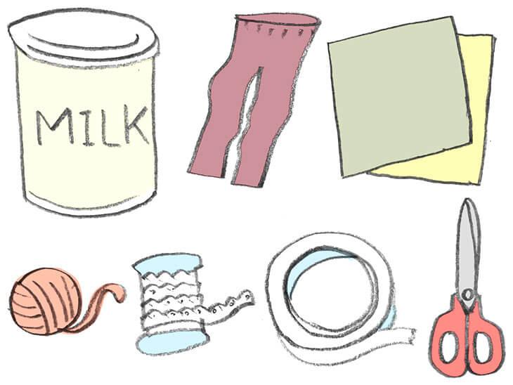 ミルク缶太鼓の材料