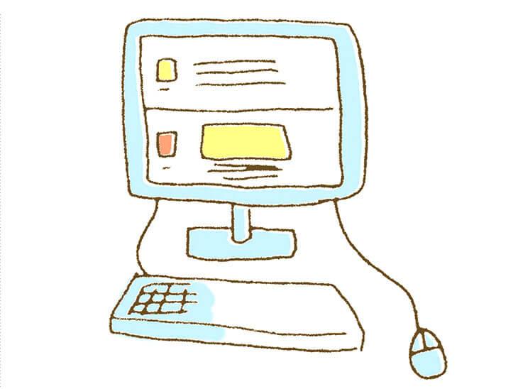PCに表示されるトラブル記事のイラスト