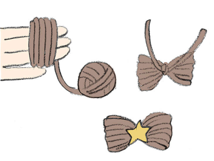 毛糸のリボン