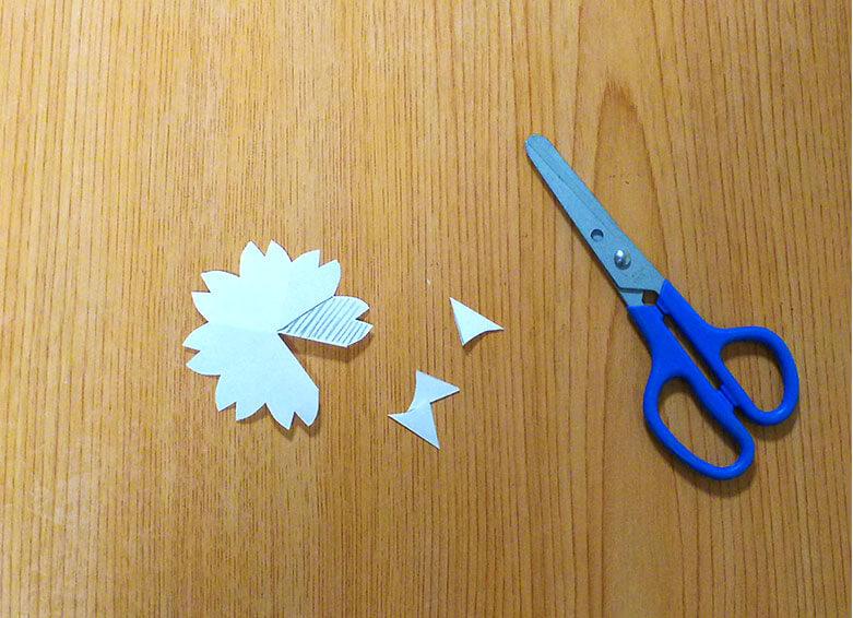 花の型紙のモト