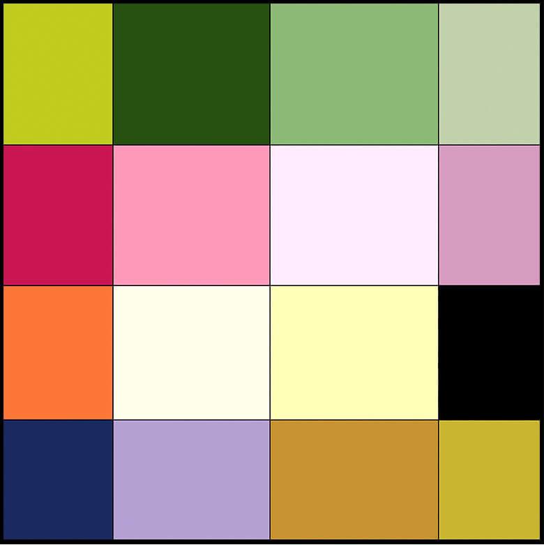 和でよく使われる16色の例