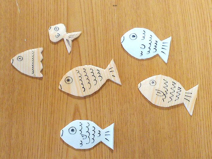 発泡スチロールトレーの魚