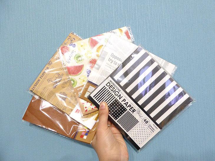手に持っている折り紙各種