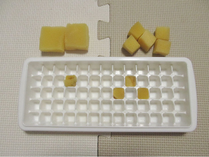 製氷皿とスポンジ