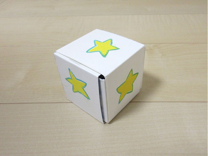 組み立てたキュービックパズル