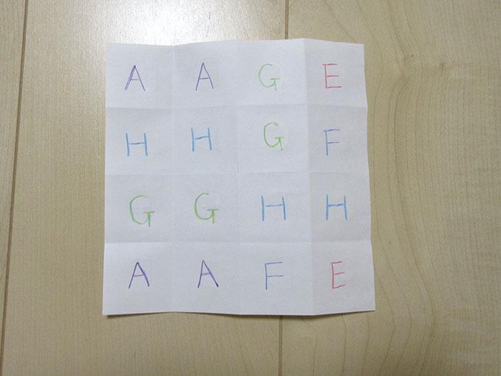 アルファベットパズルを作る様子5