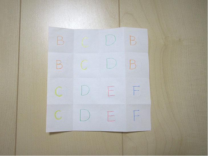 アルファベットパズルを作る様子6