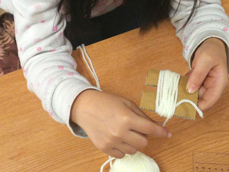 手作りポンポンメーカーの使い方1