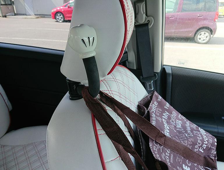 助手席のポールフック