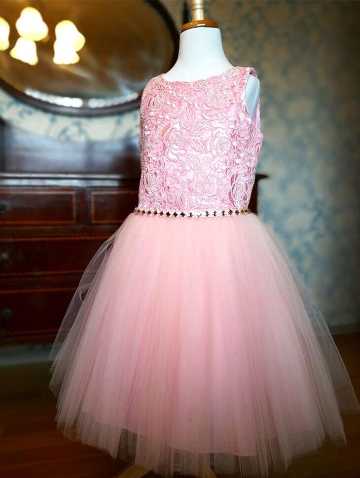 David Charlesのピンクの子供用プリンセスドレス