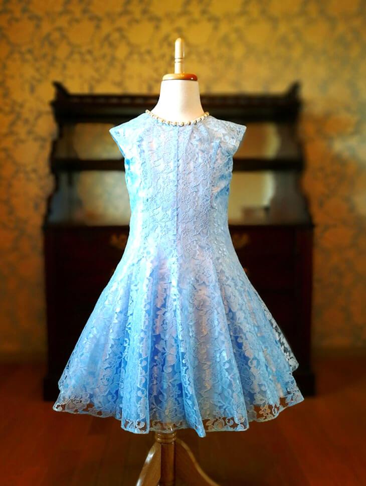 GOOSE KIDS DRESSのブルーの子供用レンタルドレス