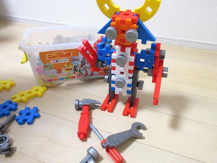 ブロック遊びで作ったロボット