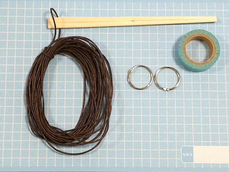 割り箸とOリングで作る知恵の輪の材料