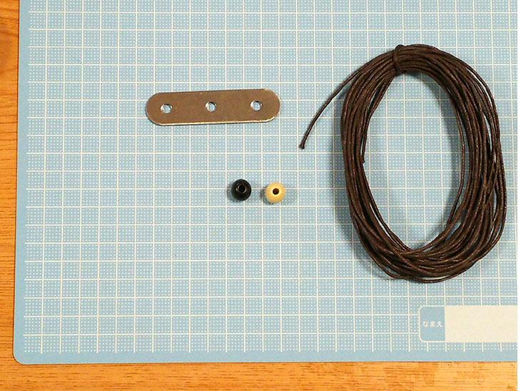 固定金具で作るアフリカンボールの材料