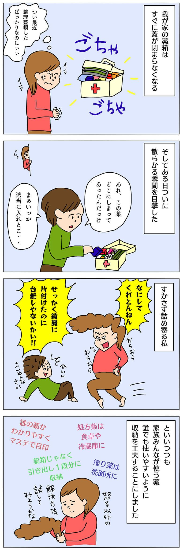 薬の収納4コマ漫画