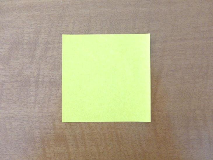 黄色い折り紙
