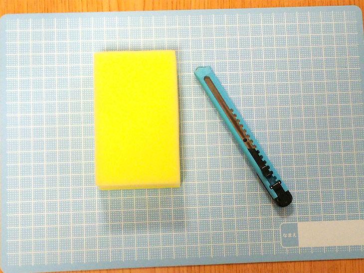 スポンジ製ワニの歯磨きパペットの材料