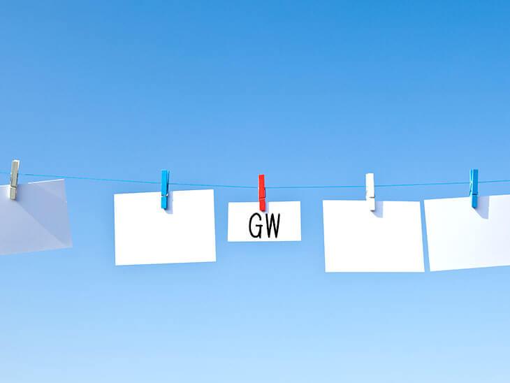 洗濯ばさみとGWのカード